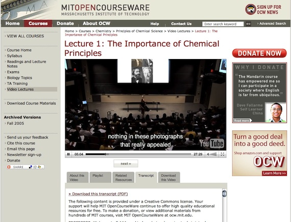 From the first lecture in the Principles of Chemical Science undergraduate course.